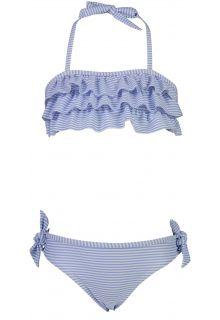 Snapper-Rock---Bandeau-Bikini-für-Mädchen---Stripes---Blau/Weiß