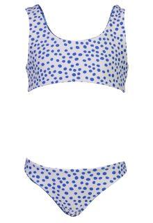 Snapper-Rock---Bow-Bikini-für-Mädchen---Umkehrbar---Cheetah-Spot---Blau/Weiß