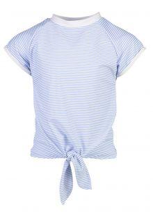 Snapper-Rock---UV-Badeshirt-mit-Frontknoten-für-Mädchen---Blau/Weiß