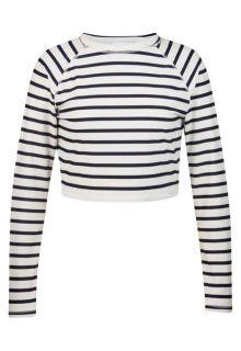 Snapper-Rock---Kurzes-UV-schützendes-Shirt-mit-langem-Arm---Dunkelblau/-Weiß