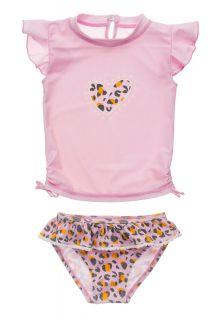 Snapper-Rock---UV-Badeset-für-Babies---Kurzarm---Leopard-Love---Rosa