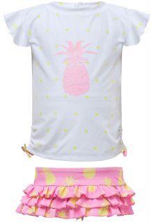 Snapper-Rock---UV-Badeset-mit-Rüschen---Pineapple-Spot---Weiß/Pink