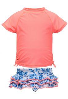 Snapper-Rock---UV-Badeset-mit-Rüschen---Cottage-Floral---Pink/Blau