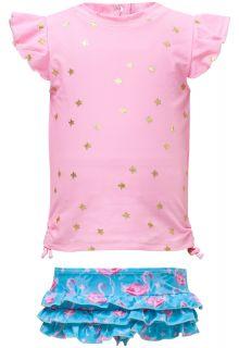 Snapper-Rock---UV-Badeset-mit-Rüschen---Flamingo-Star---Pink/Blau