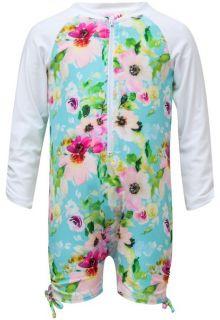 Snapper-Rock---UV-Anzug-Langärmlig---Watercolor-Floral---Blau/Rosa