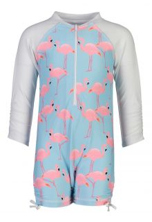 Snapper-Rock---UV-Schwimmanzug---Langärmlig---Flamingo-Social---Hellblau-