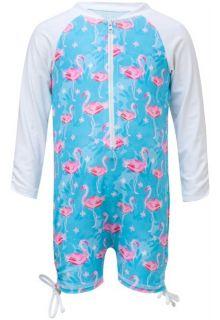 Snapper-Rock---UV-Anzug-Langärmlig---Blau-Flamingo---Blau/Pink