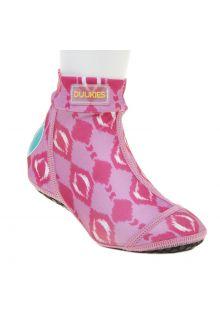 Duukies---Mädchen-UV-Strandsocken---Ikat-Pink---Helles-Pink