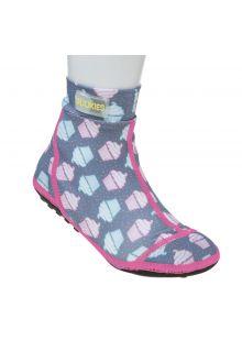 Duukies---Mädchen-UV-Strandsocken---Muffin-Grey-Pink---Grau