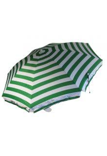 Banz---UV-Strandregenschirm---165/200cm-x-180cm---Smaragdgrün/Weiß-gestreift