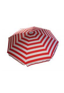 Banz---UV-Strandregenschirm---165/200cm-x-180cm---Rot/Weiß-gestreift