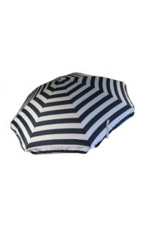 Banz---UV-Strandregenschirm---165/200cm-x-180cm---Königsblau/Weiß-gestreift