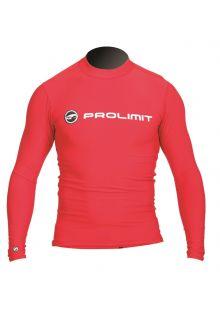 Prolimit---UV-Badeshirt-für-Herren---langärmlig---Rot
