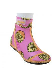 Duukies---Mädchen-UV-Strandsocken---Pink-Lemon---Rosa