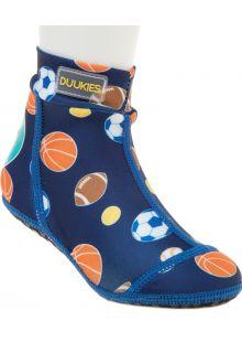 Duukies---Jungen-UV-Strandsocken---Sportsball-Blue---Blau