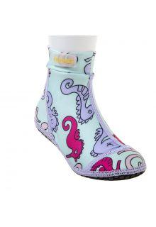 Duukies---Mädchen-UV-Strandsocken---Seahorse---Hellblau