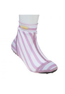 Duukies---Mädchen-UV-Strandsocken---Stripe---Rosa-Gestreift