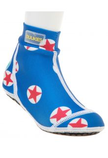 Duukies---Jungen-UV-Strandsocken---Star-Red---Blau-