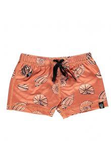 Beach-&-Bandits---UV-Badeshorts-für-Kinder---Shello---Rotbraun