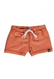 Beach-&-Bandits---UV-Badeshorts-für-Kinder---Gerippt---Rotbraun