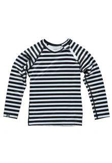 Beach-&-Bandits---UV-Badeshirt-für-Kinder---Stripes---Schwarz/Weiß