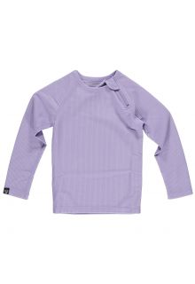 Beach-&-Bandits---UV-Badeshirt-für-Kinder---Geripptes-Langarmshirt---Lavendel