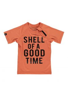 Beach-&-Bandits---UV-Badeshirt-für-Kinder---Shell-of-A-Good-Time---Rotbraun