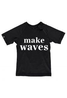 Beach-&-Bandits---UV-Badeshirt-für-Kinder---Make-Waves---Schwarz