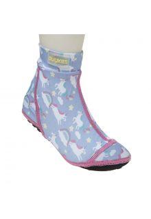 Duukies---Mädchen-UV-Strandsocken---Unicorn-Lilac-Pink---Pfirsich