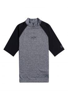 Billabong---UV-Rashguard-für-Herren---Kurzärmelig---Contrast---Grau