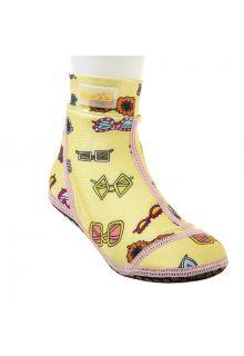 Duukies---Mädchen-UV-Strandsocken---Yellow-Summer---Gelb