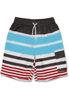 Snapper-Rock---Boardshort---Grau/-Rot/Blau-gestreift