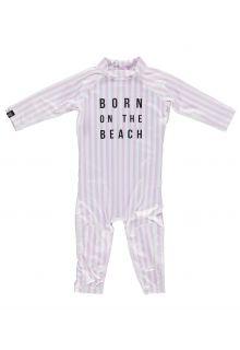 Beach-&-Bandits---UV-Badeanzug-für-Babys---Beach-Girl---Rosa/Weiss
