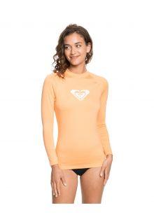 Roxy---UV-Badeshirt-für-Damen---Langarmshirt---Whole-Hearted---Lachsfarben