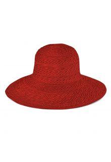 Emthunzini-Hats---UV-Floppy-Sonnenhut-für-Damen---Scrunchie---Rot
