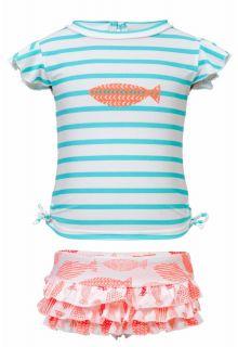 Snapper-Rock---UV-Badeset-mit-Rüschen-Coral-Fish---Rosa-/-Türkis
