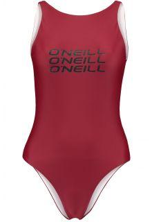 O'Neill---Funktions-Badeanzug-für-Frauen---Logo---Nairobi-Rot