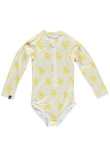 Beach-&-Bandits---UV-Badeanzug-für-Mädchen---Aloha-Lemon---Gelb