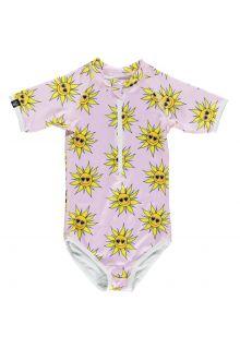 Beach-&-Bandits---UV-Badeanzug-für-Mädchen---Sunny-Flower---Rosa