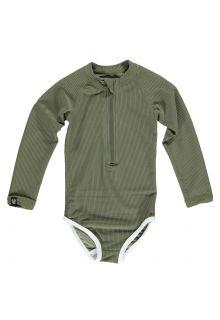 Beach-&-Bandits---UV-Badeanzug-für-Mädchen---Ribbed-Kollektion---Palme