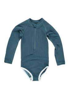 Beach-&-Bandits---UV-Badeanzug-für-Mädchen---Ribbed-Kollektion---Ozean