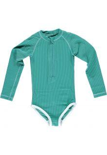 Beach-&-Bandits---UV-Badeanzug-für-Mädchen---Ribbed-Kollektion---Lagune