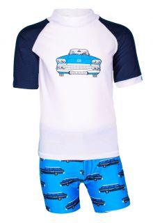 JUJA---UV-Badeset-für-Jungen---Oldtimer---Weiß/Blau