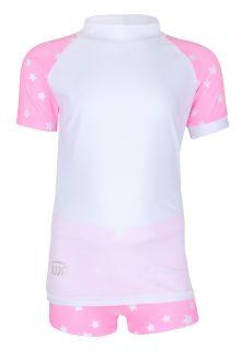 JUJA---UV-Badeset-für-Mädchen---Stars---Weiß/Rosa