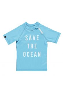 Beach-&-Bandits---UV-Schwimmshirt-Kinder---Save-the-ocean---Blau/Weiß