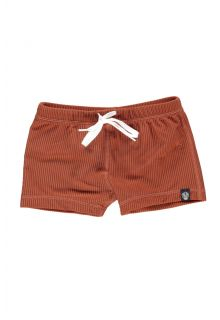Beach-&-Bandits---UV-Badeshorts-für-Kinder---Ribbed-Kollektion---Erdfarbe