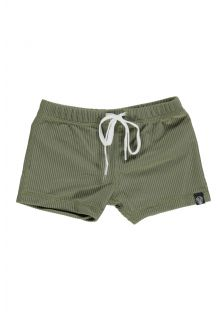 Beach-&-Bandits---UV-Badeshorts-für-Kinder---Ribbed-Kollektion---Palme