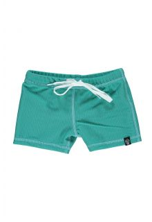 Beach-&-Bandits---UV-Badeshorts-für-Kinder---Ribbed-Kollektion---Lagune