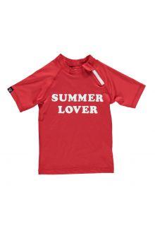 Beach-&-Bandits---UV-Badeshirt-für-Mädchen---Summer-Lover---Rot