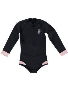 Beach-&-Bandits---UV-Neoprenanzug-für-Mädchen---Blacktip-Girl---Schwarz/Rosa